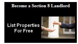 Become a Section 8 landlord and complete application for Section 8 apartments.